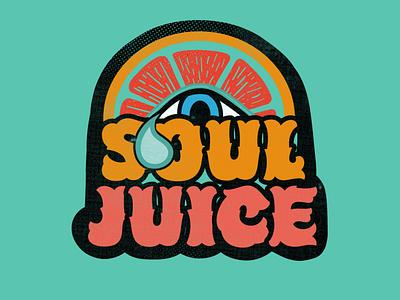 Krista Cavender Soul Juice illustration adobe illustrator print soul juice soul illustrator colorful juice logo tshirt art psychedelicart psychedelic