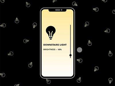 Change the Brightness light drag animation lightbulbs ui animation