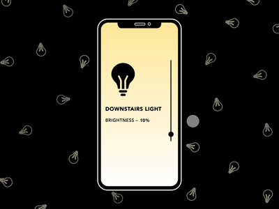 Change the Brightness light drag animation lightbulbs ui animation