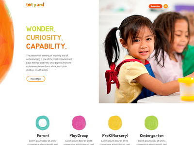 Totyard - Wonder, Curiosity and Capability education rcandesign minimal flat website web ux ui design logo