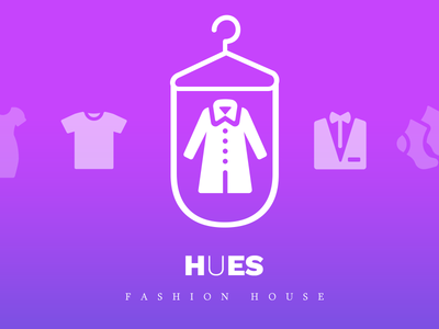 Hues - Fashion House logo creation ecommerce logo design fashion logo logo suits cloths house fashion