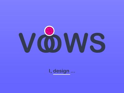 VOWS wedding creative ball ball creative design dribbble ball vows logo dribbble