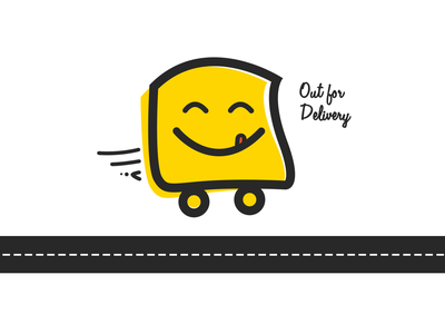 Out For Delivery! order character graphics delivery app online order food delivery delivery app icon food