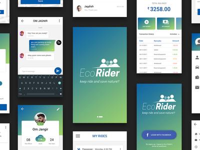 Ecorider - Carpool App UI taxi app app ui kit design app ui ui car app app sharing car carpool