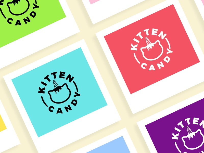 Kitten Candy icon ux branding brand and identity design logo creative