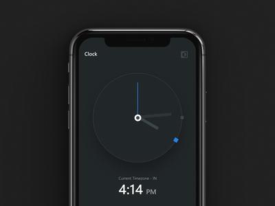 Minimalist Clock App - UI Kit