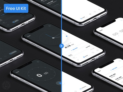 Clock App - UI Kit for Free Download