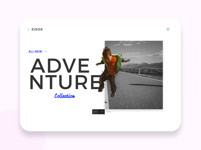 KIDOS cart kidos collection adventure webdesign web design app shopping ui kids web ui
