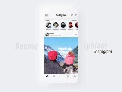 Neumorphism Instagram neutral dribbleshots designshots populardesign trending design stories app design instagram design instagram 2020 design trends neumorphic neumorphism