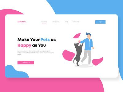 Animalove ui webdesign uidesign design app uiux ui design