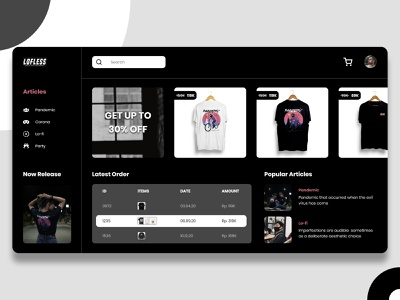 Lofless - Shop Clothing Web Design web webdesign ux design app uidesign uiux ui design ui