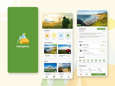 Camptrav - Mobile App ios android design app uidesign uiux ui design ui