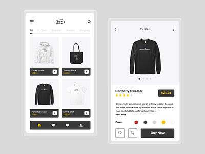 Errrr - Apparel Store App ui  ux store app ios ios app design mobile app design android app uidesign uiux ui design ui