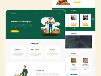 Lemunguser Landing Page vector illustration webdesign ux design uidesign app uiux ui ui design
