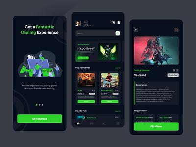 Game Store App - Mobile App game store store game mobile app design app ui ui design uiux uidesign ux