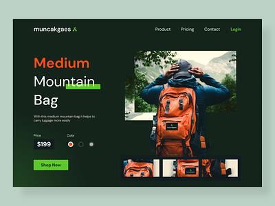 Mountain Equipment E-commerce Website - muncakgaes store e-commerce web ux design uiux uidesign ui app ui design