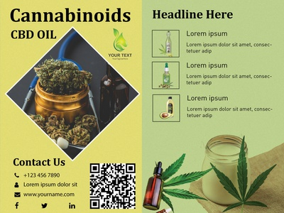 cbd oil design brochure design banners ui ux illustration webdesign
