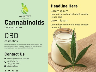 cbd oil file Front brochure design banners illustration ux ui webdesign