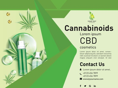 cbd oil file Front banner brochure design ux ui illustration webdesign