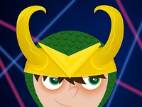Superhero Elementary Picture Day: Loki