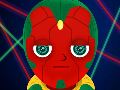 Superhero Elementary Picture Day: Vision funny illustration day picture school avengers ultron vision