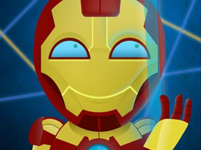 SuperHero Elementary: Iron Man illustration photo armor iron man school super hero