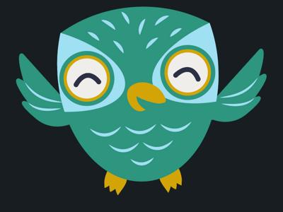 Happy Owl vector owl animal