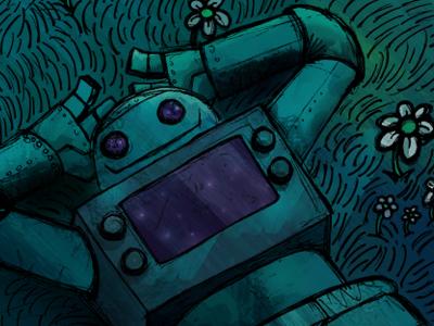 The Stargazer robot illustration character cartoon