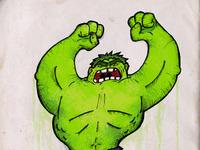 Hulk incredible green chad albers weirdoboy avengers