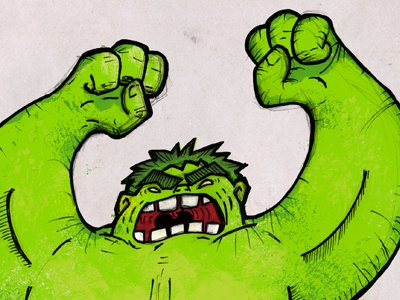 Hulk incredible green chad albers weirdoboy avengers sm