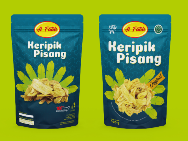 Banana Chips Packaging standing pouch packaging design packaging food packaging box packaging