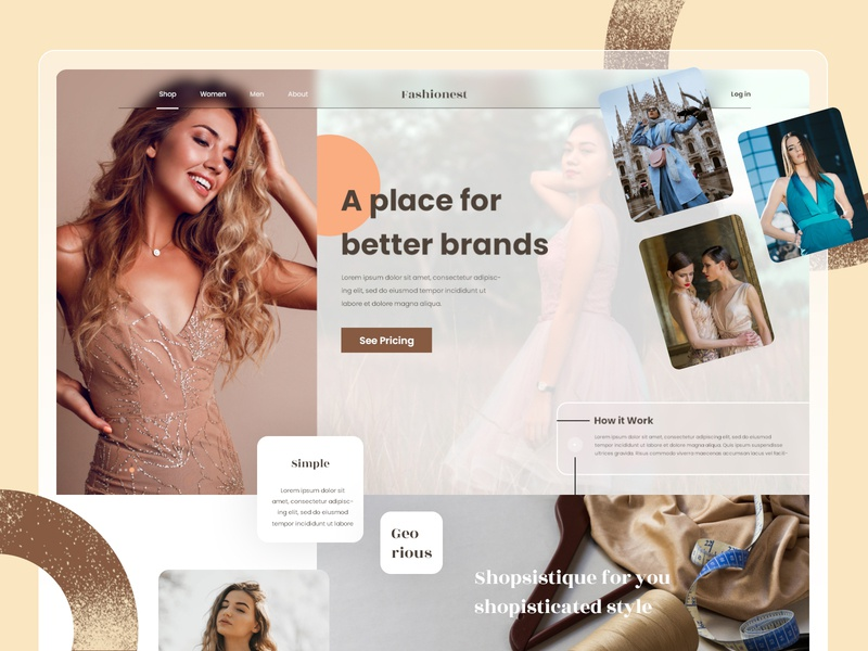 Fashionest - Hero Landing Page typography user interface design adobe userinterface illustration user experience design ui design uidesign user interface
