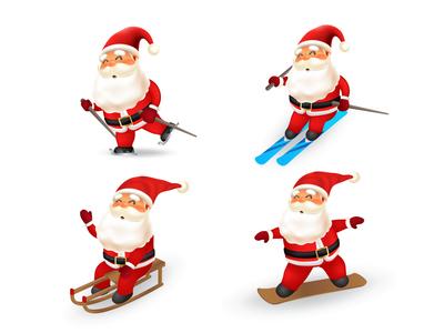 santa winter sport