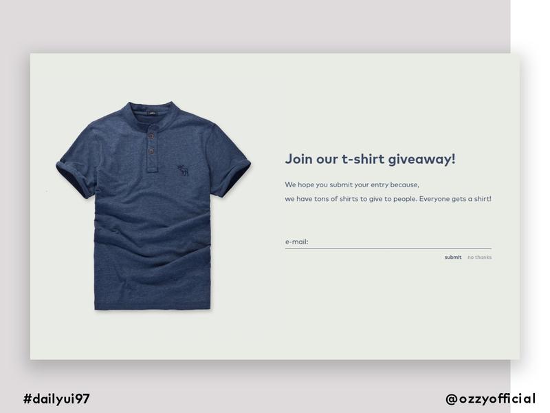 dailyui97 giveaway dailyui097 dailyuichallenge 097