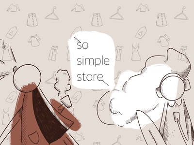 Brand identity and illustrations for so.simple.store 2dart brand clothes store clothes store fashion illustration fashion identity branding graphic design design characterdesign character illustration