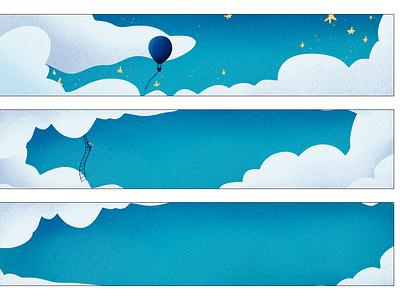 Illustrations for an annual calendar fantasy stars sky calendar design illustration