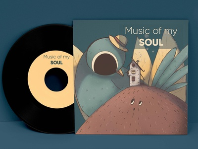 Bird illustration music vinyl package vinyl package graphic design illustration