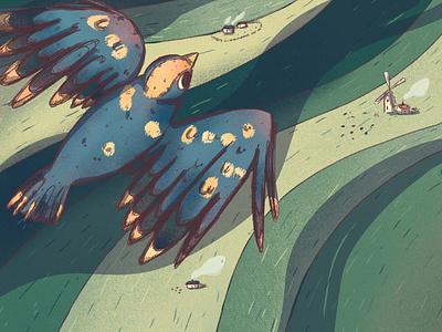 Bird animals bird illustration