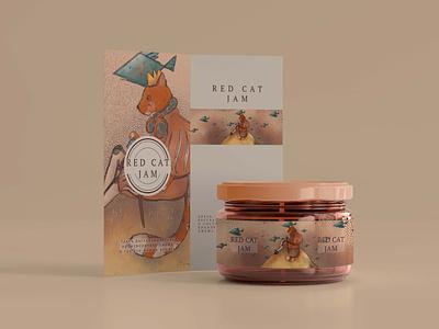 Jam packaging illustration animal cat jam packaging design branding identity graphic design illustration