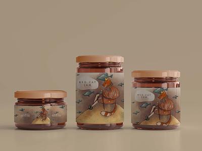 Jam packaging illustration package jam design branding identity graphic design character illustration