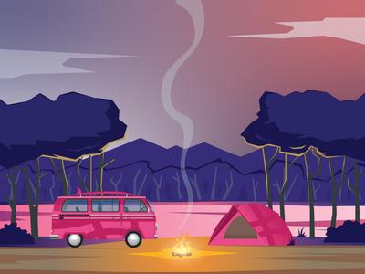 Dribbble Camping