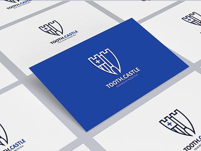 TOOTH CASTLE dentist logo dental vector minimal logotype logodesign logo design branding brand identity