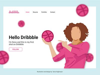 Hello Dribbble ui website animation web vector design illustration