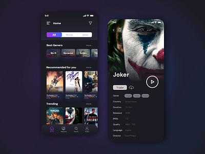 Movie app website web ux ui design