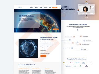Cloud Solutions for Business Telecom minimal color clean ui design web ux website ui