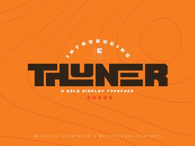 Thuner alternates lettering branding illustration display logo font design typography type