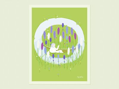 One Day dribbble design lohas flower graphic visual nature creative illustration
