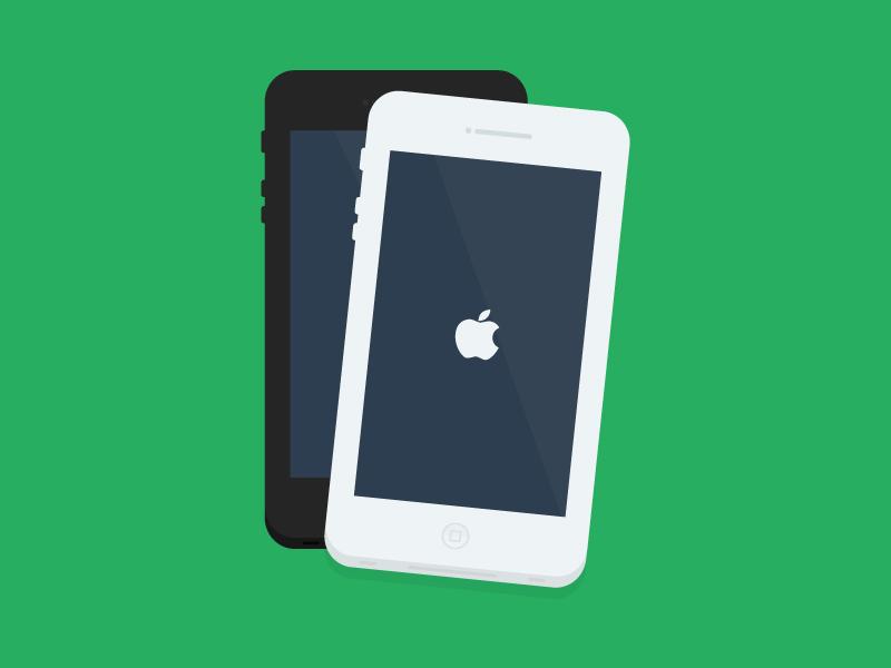 Iphone iphone apple mobile phone flatdesign flat free freebie psd illustration ai design