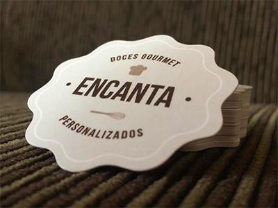 Encanta Doces Gourmet cards print business clean minimalist design graphic card brand