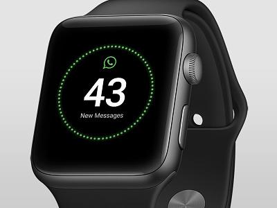 WhatsApp Microinteraction messages minimalist clean design whatsapp watch apple